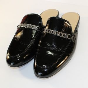 Marc Fisher black Whiley flat mules